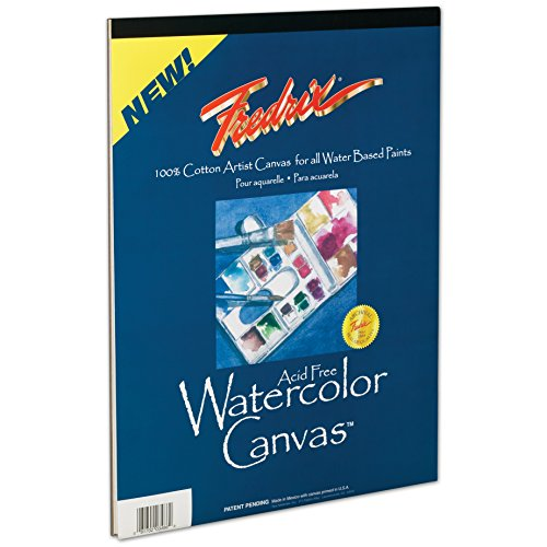 Tara Materials Fredrix 9x12 Watercolor Canvas Pad