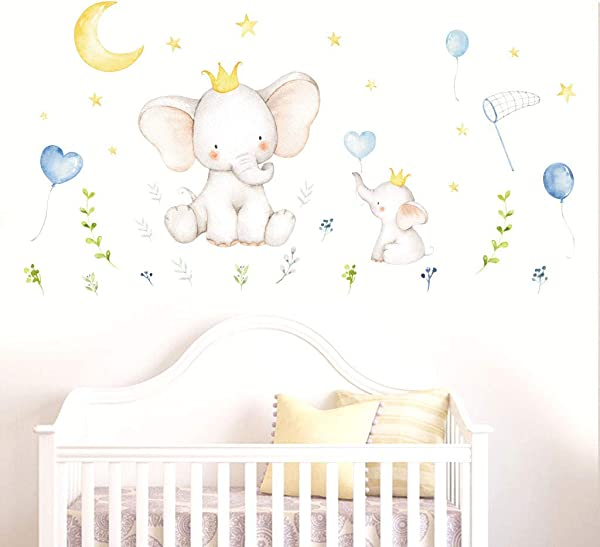 WPOtee Cartoon Forest Elephant Animal DIY Vinyl Wall Stickers For Kids Rooms Home Decor Art Decals Wallpaper Decoration