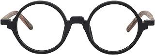 Unisex Acetate Vintage Round Glasses Frame with Non-prescription Clear Lens Otto FA0481