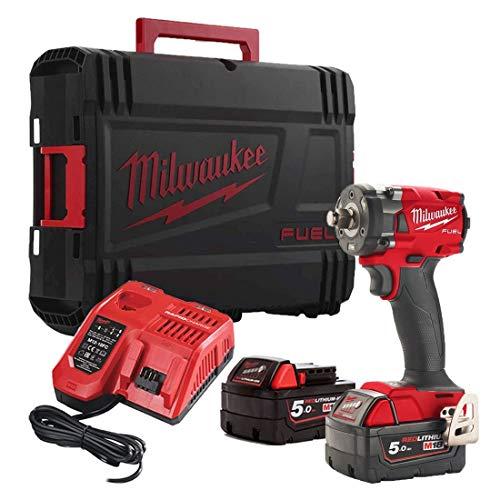 Milwauk Llave Impacto Milwaukee M18 FIW2F12-502X, Rojo, 0
