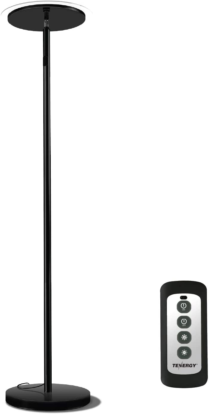 Low price Tenergy Torchiere Remote Control Floor Lamp LED lamp 30W Spring new work