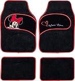 Mickey Mouse Lot de 4 tapis de sol avec broderie Minnie 43 x 65 cm et 40 X 30 cm