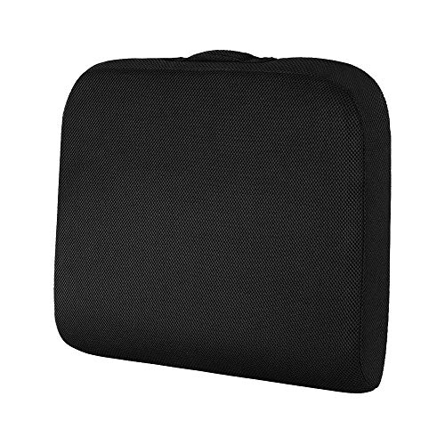 baibu Memory Foam Seat Cushion,Chair Pad for Office Computer & Car Seat Cushion,Perfect for Coccyx Orthopedic Improves Posture - (48x45x7.5cm Black)