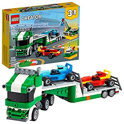 LEGO Creator 3in1 Race Car Transporter 31113 Building Kit; Makes a Great Gift for Kids Who Love Fun Toys and Creative Building, New 2021 (328 Pieces) by LEGO