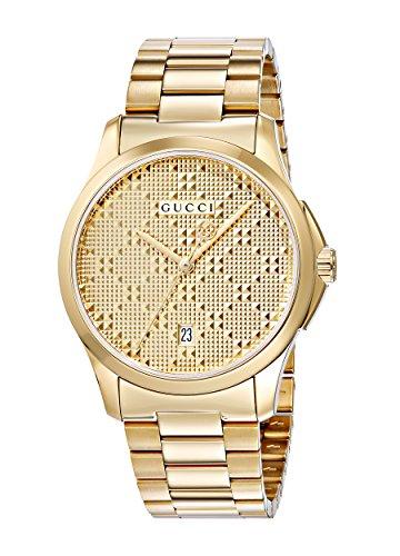 Gucci G Timeless–Reloj de Pulsera analógico Unisex de Cuarzo, Revestimiento de Acero Inoxidable ya126461