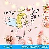 Decoración de la habitación de la niña rosa dormitorio autoadhesivo niña alquiler de viento renovación de la casa etiqueta de la pared decorativa-little angel_Big