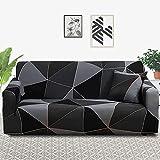 MKQB Funda de sofá Estirable elástica geométrica, Funda de sofá Modular de Esquina en Forma de L para Sala de Estar Antideslizante Envuelto herméticamente NO.8 M (145-185cm