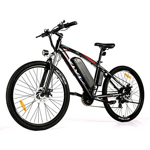 VIVI 27.5' Bicicleta Eléctrica Hombres Mujeres,500W Motor Mountain Bike E Bike, 48V 10.4AH Batería de Ion-Litio Ebike...