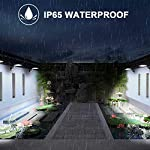 Solar Lights Outdoor Motion Sensor, JESLED 90 LED Solar Powered Exterior Security Light, 6000K, 3 Modes Waterproof Flood Lights for Yard Patio Garage, Dusk to Dawn, USB Charging & Battery Replaceable IP65 Waterproof