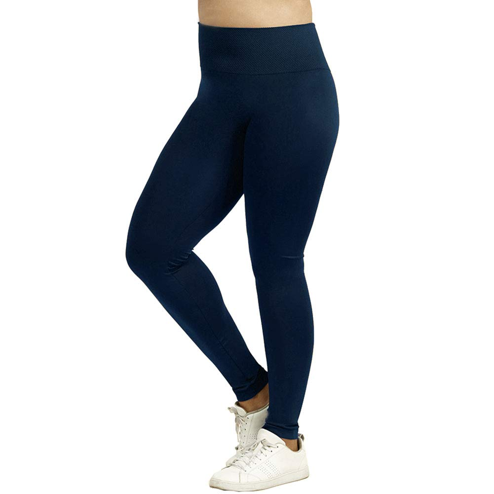 Sofra Womens Extra Length Leggings Navy