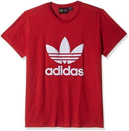 Adidas Camiseta de Manga Corta Color Rojo para Mujer