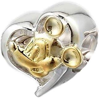 Andante-Stones Argento massiccio Sterling 925 originale Perlina Bead Pesce Ciondolo da donna Charm per bracciali e collane europei sacchetto di organza