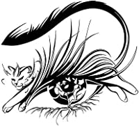 LGSMRP 車のステッカー、ステッカー17.9cm * 16.2cmの猫の目の美容院の装飾車の装飾車のステッカー車のスタイリングブラック/シルバーカーステッカー、ステッカー(カラー名:黒) LGSMRP (Size : Black)