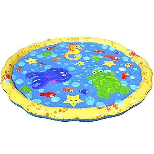 HWNGDI 170 cm aspile inflable agua animal inbolsas a chorro de agua para niños rociador de la alfombra de la alfombra de la alfombra de la alfombra de la alfombra de la playa de la colchoneta juguetes
