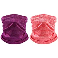 2-Pack Zloveras Breathable Neck Gaiter Face Cover