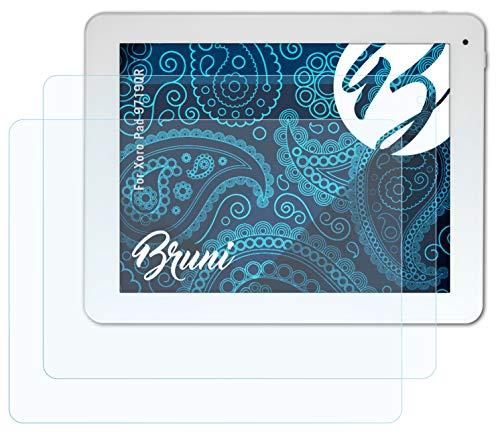 Bruni Schutzfolie kompatibel mit Xoro Pad 9719QR Folie, glasklare Bildschirmschutzfolie (2X)