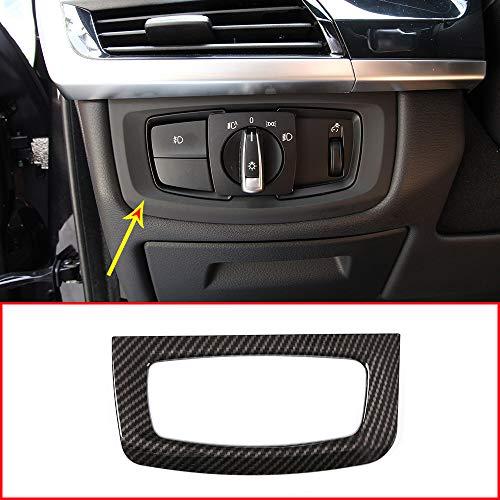 Fibre de carbone pour X5 F15 2014–2018 Plastique ABS lampe Phare Interrupteur Décoration Cadre Bordure Accessoires Auto