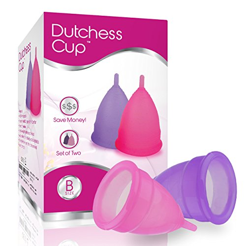 Dutchess Menstrual Authentic Original Cups Set of 2 with Free Bags - Small (B) - No 1 Economical...