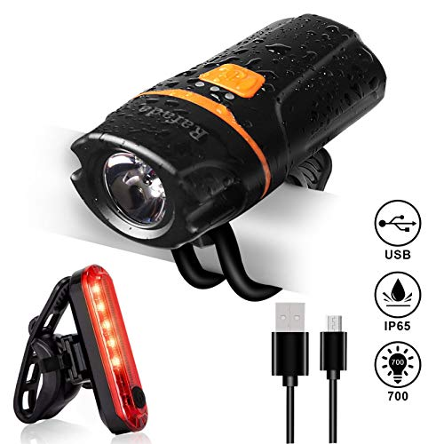Rafada Bike Light Set, Super Bright 700...