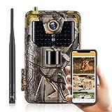SUNTEKCAM 4G Fotocamera Caccia Fototrappola 20MP 1080P Wildlife Camera Impermeabile IP66 Trail Camera, Visione Notturna Invisibile, Macchine Fotografiche da Caccia (Scheda SD Inclusa)-HC-900 LTE