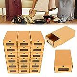 LianDu Juego de Cajas de Almacenamiento de Zapatos de Cartón de 10/20 Piezas, Cajas de Al...