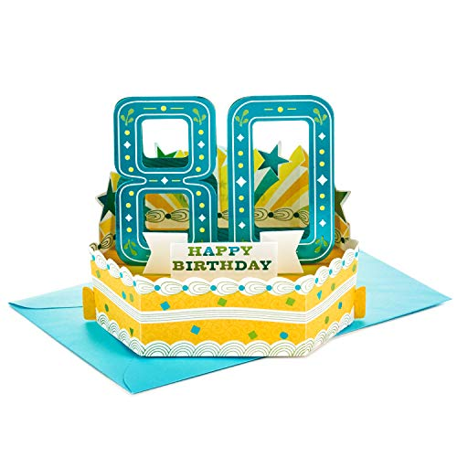 Hallmark 80th Birthday Pop Up Greeting Card