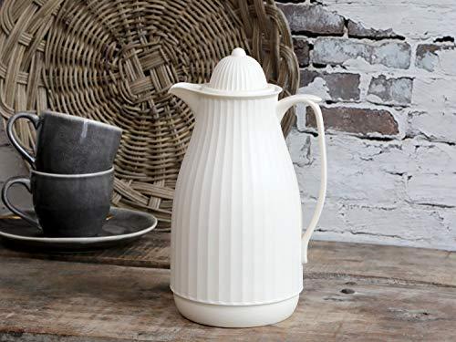 Chic Antique ° Thermoskanne ° Isolierkanne Romantik Landhaus Creme ° Kanne Groß 1 Liter 61603-19
