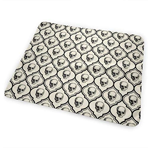 Voxpkrs French Skulls Bone U Black Bed Pad Washable Urine Pads for Baby Toddler Children 31.5 X 25.5 Inch