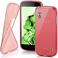 MoEx® Funda [Transparente] Compatible con LG Google Nexus 4 | Ultrafina y Antideslizante - Rouge