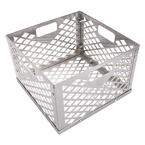 Oklahoma Joe's 5279338P04 Stainless Steel Offset Smoker Charcoal Firebox Basket, Silver