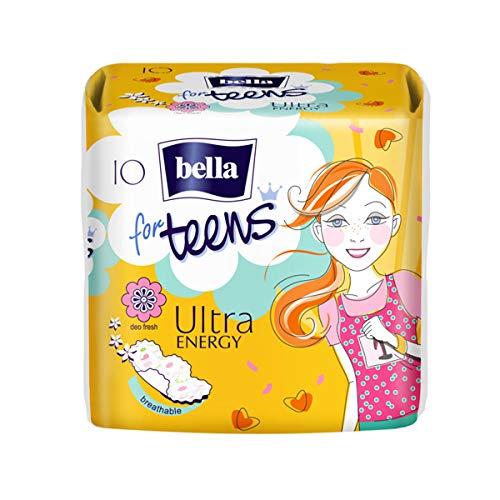 Bella For Teens Ultra Binden Energy: Ultradünne Binden Für Teenager, 1x10 Stück, Mit Flügeln + Frischeduft
