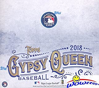 2018 Topps Gypsy Queen Baseball MASSIVE Factory Sealed 24 Pack Retail Box with 144 Cards! Look for Autograph, Memorabilia, Shortprints, Mini Cards & Shohei Ohtani Rookie Cards & Autograph's! SUPER HOT