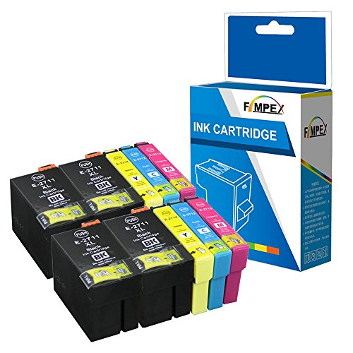 Fimpex Compatibile Inchiostro Cartuccia Sostituzione Per Epson WorkForce WF-3620 WF-3620DWF WF-3640DTWF WF-7110DTW WF-7210DTW WF-7610DWF WF-7620DTWF WF-7620TWF WF-7710DWF T2715 (BK/C/M/Y, 10-Pack)