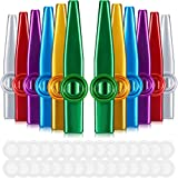 Best Kazoos - 12 Pieces Metal Kazoos Musical Instruments Colorful Kazoos Review