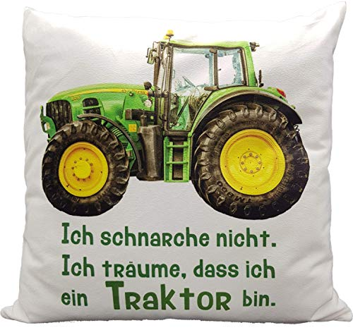 Kilala Traktor Kissen, bedrucktes Kissen mit Spruch