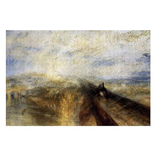 Rain Steam and Speed by Jmw Turner Jigsaw Puzzle 1000 Piece, Puzzle Game Artwork for Adults Teens Kids Children 20