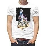 Camiseta Hombre Rogue One: Una Historia de Star Wars (Blanco, L)