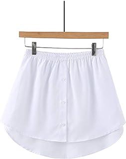 DGJU Adjustable Layering Fake Top Lower Sweep Set Skirt Half-Length Splitting a Version Shirt Extender Mini Skirt for Swea...