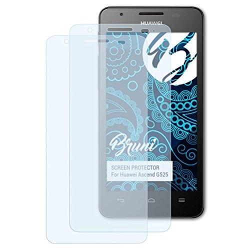 Bruni Schutzfolie kompatibel mit Huawei Ascend G525 Folie, glasklare Bildschirmschutzfolie (2X)