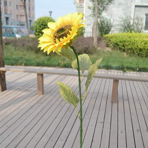 ypypiaol 1 Unid Decoración De La Cerca del Jardín del Hogar Flor Vívida Falsa Girasol Artificial Grande 1#