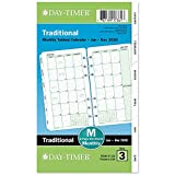 Day-Timer 2020 Monthly Planner Refill, 3-3/4' x 6-3/4', Portable Size 3, Two Pages Per Month, Loose Leaf,...