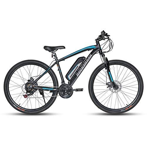 ROCKSHARK E-Bike Elektrofahrrad Aluminium 26/27,5 Zoll Elektro-Mountainbike Shimano 21 Gang Scheibenbremse Federgabel mit 36V 10.4Ah Akku 17