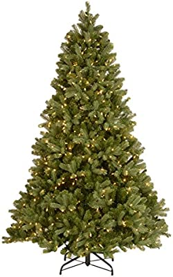National Tree Company 'Feel Real' Pre-lit Artificial Christmas Tree   Includes Pre-strung Multi-Color LED Lights, PowerConnect and Stand   Downswept Douglas Fir - 7.5 ft