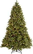 National Tree 7.5 Foot Feel Real Downswept Douglas Fir Tree with 750 Dual Color LED Lights with PowerConnect 9 Function System, Hinged (PEDD1-D12-75)