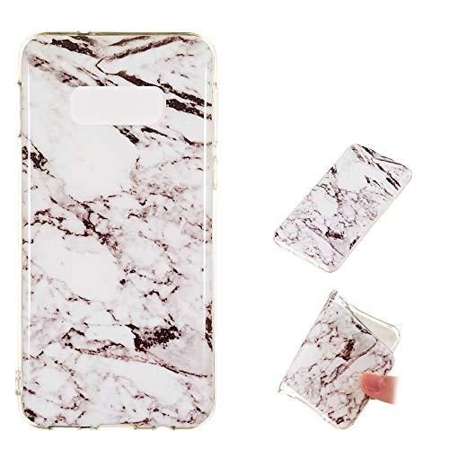 Preisvergleich Produktbild CoverKingz Handyhülle für Samsung Galaxy S10e Handy Schutzhülle,  Silikon Case,  Marmor Look Weiß