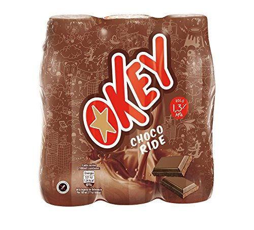 Okey - Batido Chocolate, 188 ml, pack de 18 unidades