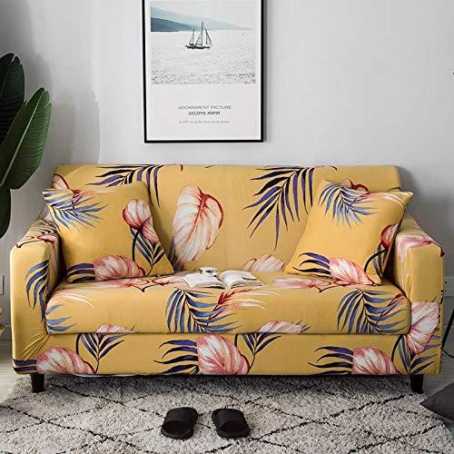 WXQY Funda de sofá elástica elástica, Muebles, sofá, Toalla, sillón, sección de Esquina en Forma de L, Funda de sofá, Tela, Chaise Longue A16, 3 plazas