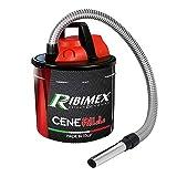 Ribimex PRCEN001, Cenerill Aspiradoras de cenizas 1000 W, 18 L con doble filtro y lanza plana