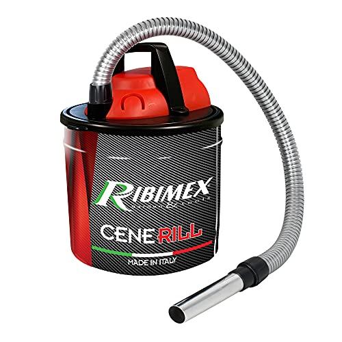 Ribimex Cenerill Aspiracenere, 1000 W, 18 L, Rosso/Nero