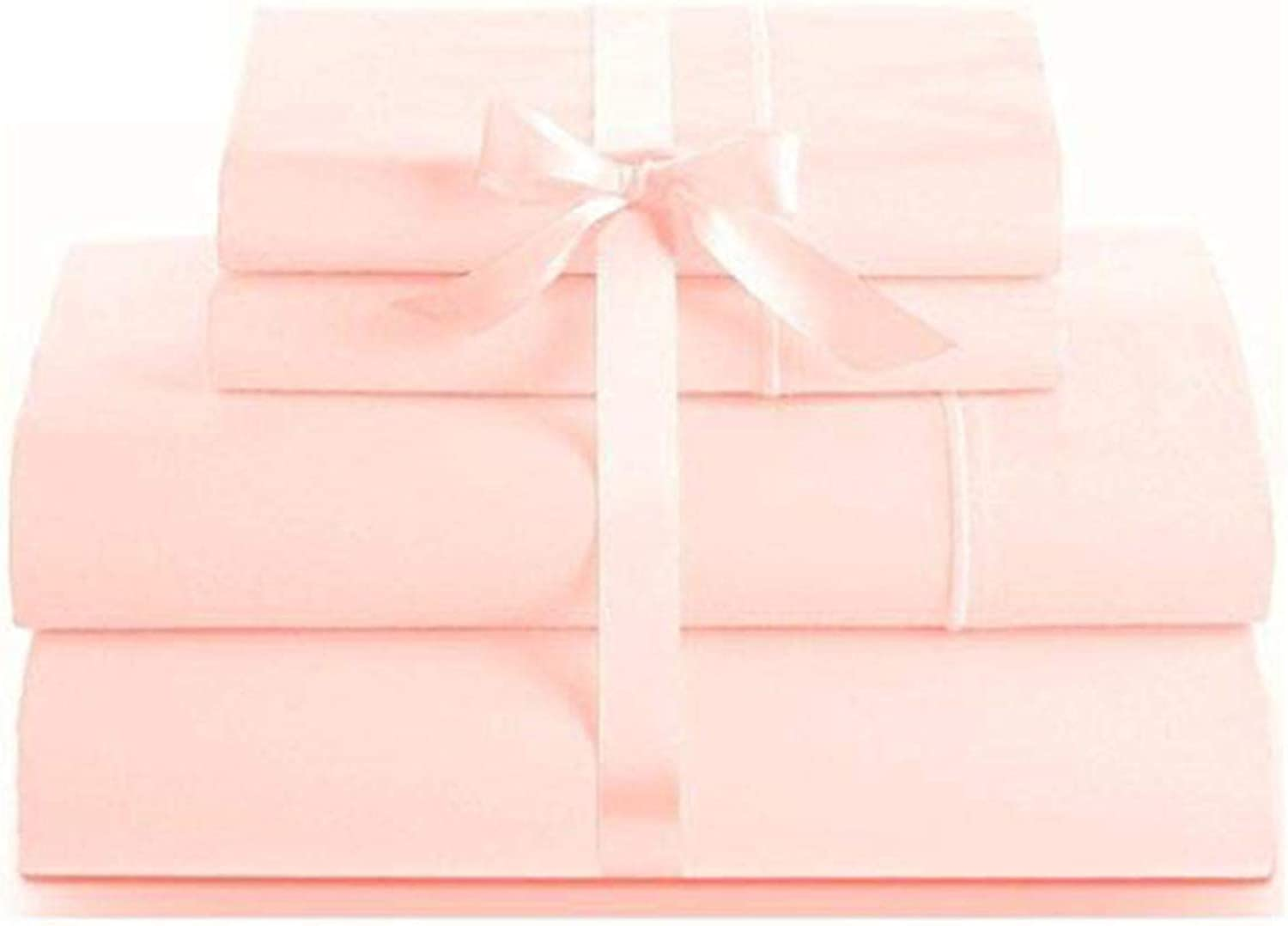 LINENWALAS 100% Cotton Natural Bed Sheets – 1000 Thread Count Deep Pocket   Silk Like Soft, Hypoallergenic, Breathable & Cool Bed Sheet Set 4 Piece   Hotel Sheets Todays Deal (King, Baby Pink)